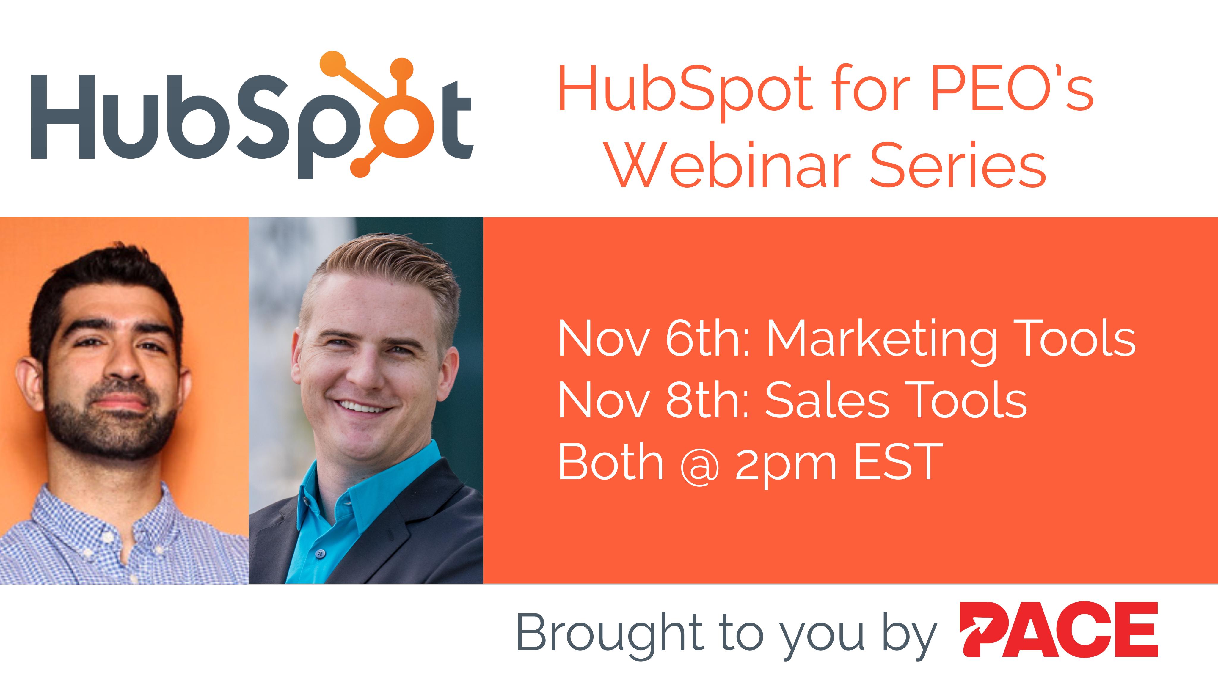 PACE HubSpot Sales & Marketing Webinar Series Blog Image